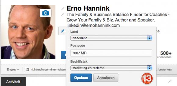 linkedin profiel bedrijfstak locatie 13 580x283 Compleet profiel op nieuwe LinkedIn in 13 stappen