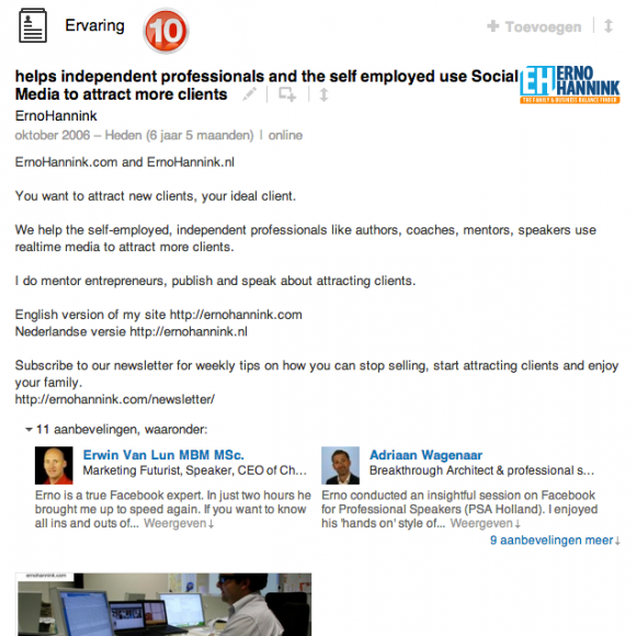 linkedin profiel ervaring 580x580 Compleet profiel op nieuwe LinkedIn in 13 stappen