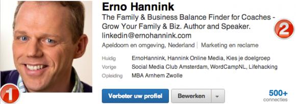 linkedin profiel foto kop 580x204 Compleet profiel op nieuwe LinkedIn in 13 stappen