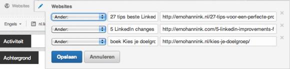linkedin profiel websites bewerken 580x139 Compleet profiel op nieuwe LinkedIn in 13 stappen