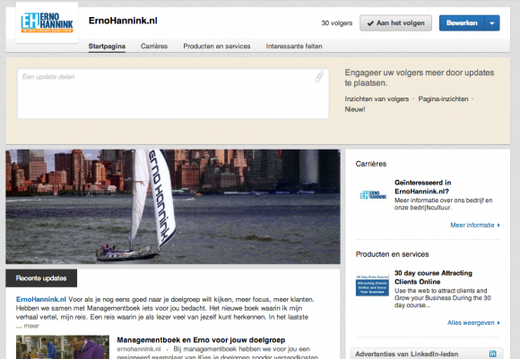 linkedin bedrijfsprofiel eh 580x401 LinkedIn Bedrijfsprofiel voor jouw bedrijf