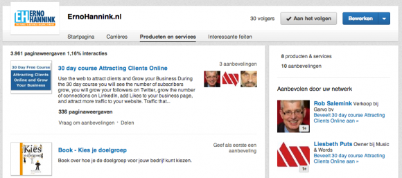linkedin bedrijfsprofiel producten 580x257 LinkedIn Bedrijfsprofiel voor jouw bedrijf