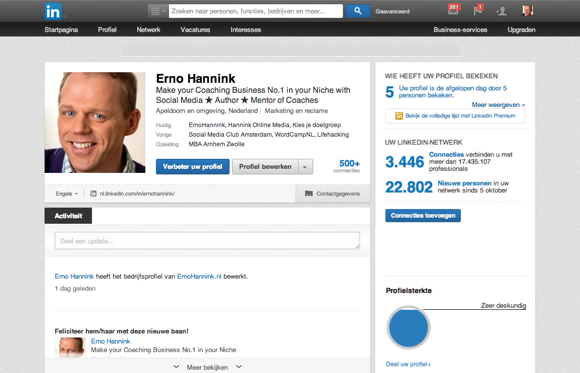 LinkedIn voor de business coach