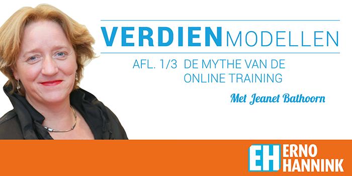 Verdienmodellen Online training