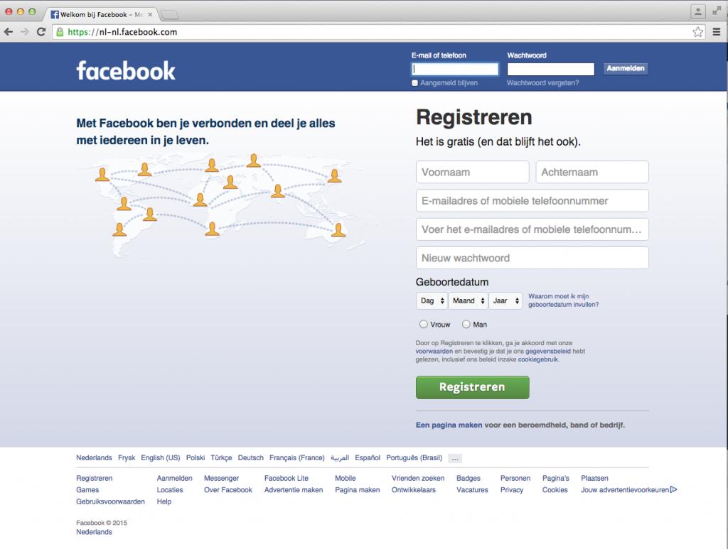 Facebook aanmaken