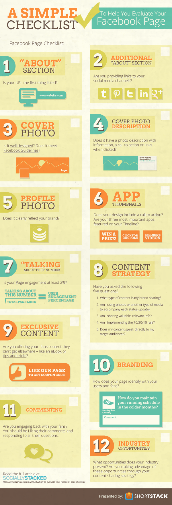 facebook pagina checklist infographic