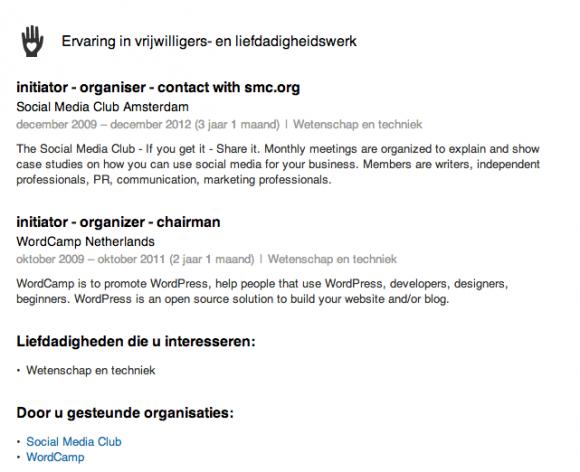 linkedin profiel extra vrijwilligerswerk 580x472 Breng je LinkedIn Profiel tot leven