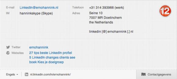 linkedin profiel contactgegevens 12 580x259 Compleet profiel op nieuwe LinkedIn in 13 stappen