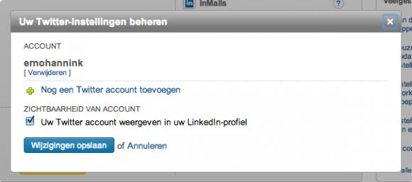 linkedin profiel twitter instellingen 580x257 Compleet profiel op nieuwe LinkedIn in 13 stappen
