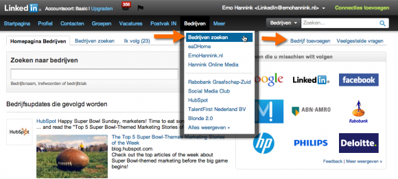 linkedin bedrijfsprofiel toevoegen 580x261 LinkedIn Bedrijfsprofiel voor jouw bedrijf