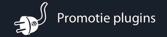 WordPress plugins voor promotie