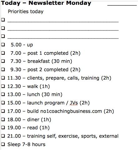 dagelijkse prioriteiten 2