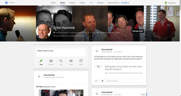 Google+ omdat het helpt in de zoekmachine