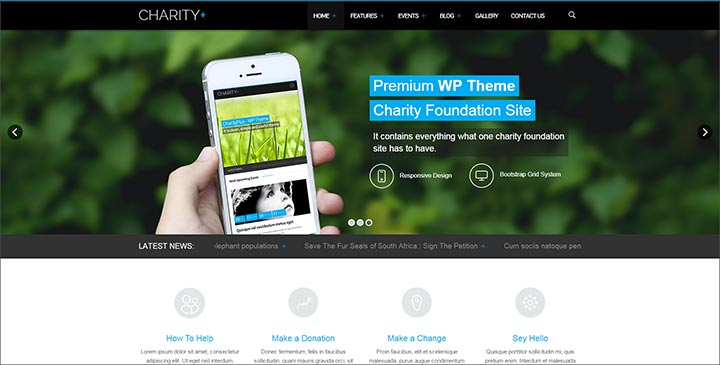 charityplus simple responsive wordpress theme