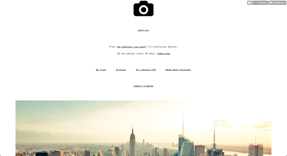 Unsplash - iedere 10 dagen, 10 nieuwe fotos