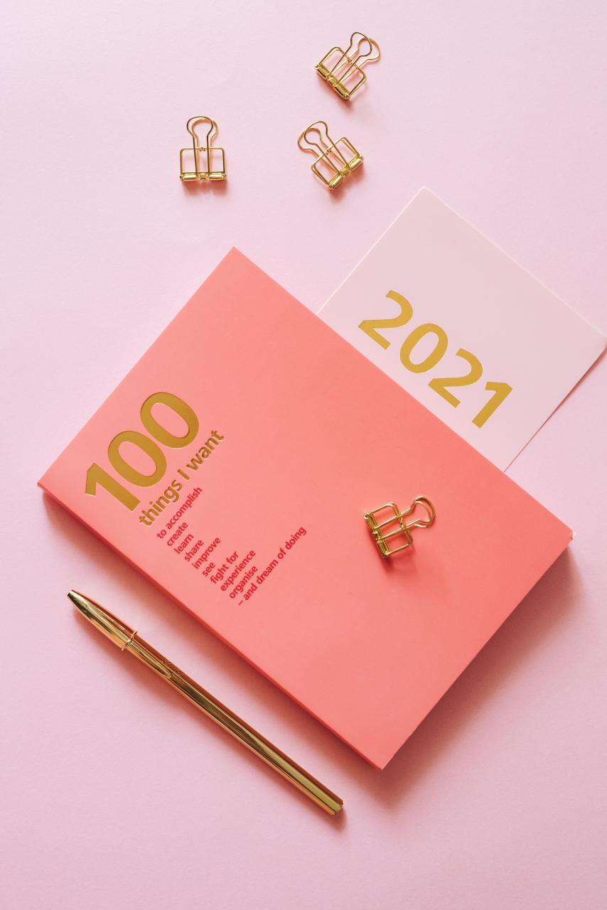 Roze En Gouden Liefdeskaart